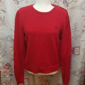 RALPH LAUREN RED SWEATER SIZE M